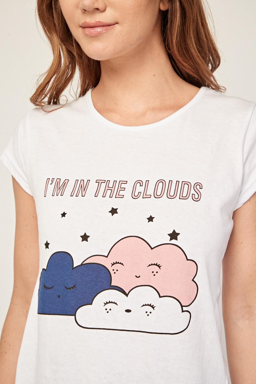 dc672c4c1f2 Novelty Cloud Print Pyjama Set - Just £5
