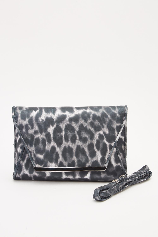 59b45bf749bd Leopard Print Envelope Clutch - Just £5