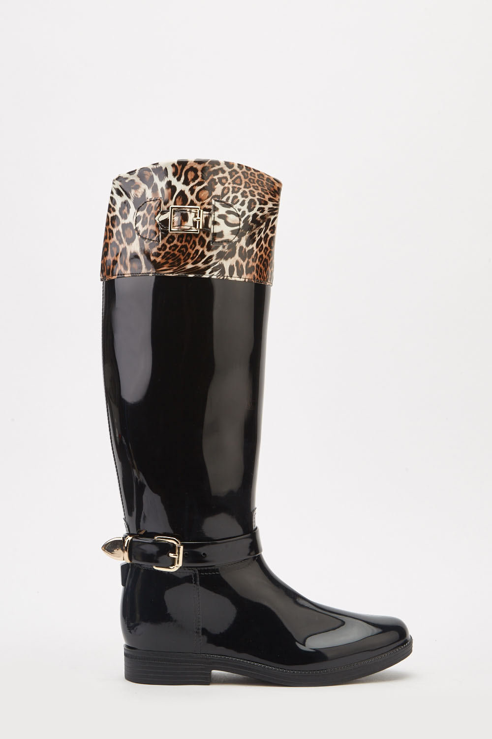 a1c2af891989 Animal Print Contrasted Rain Boots - Just £5