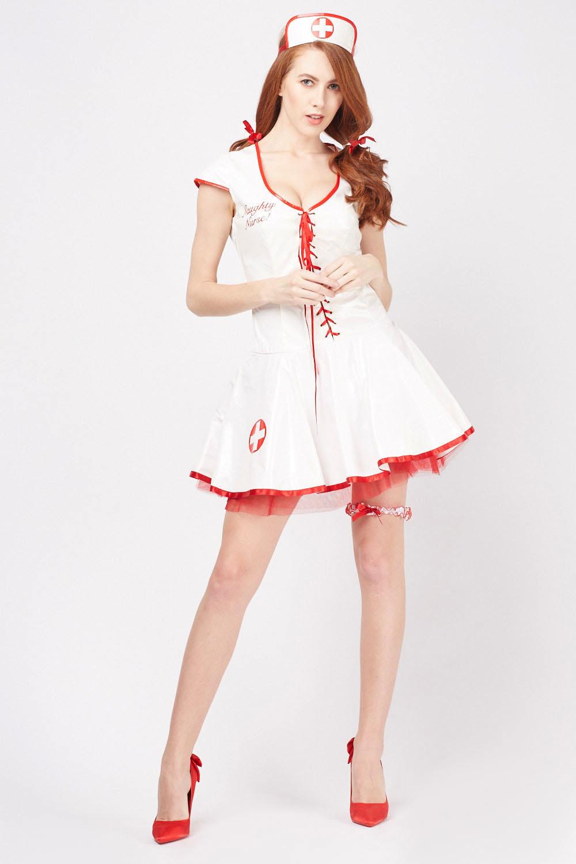 7efa82d93cd66 PVC Naughty Nurse Outfit Set - Just £5
