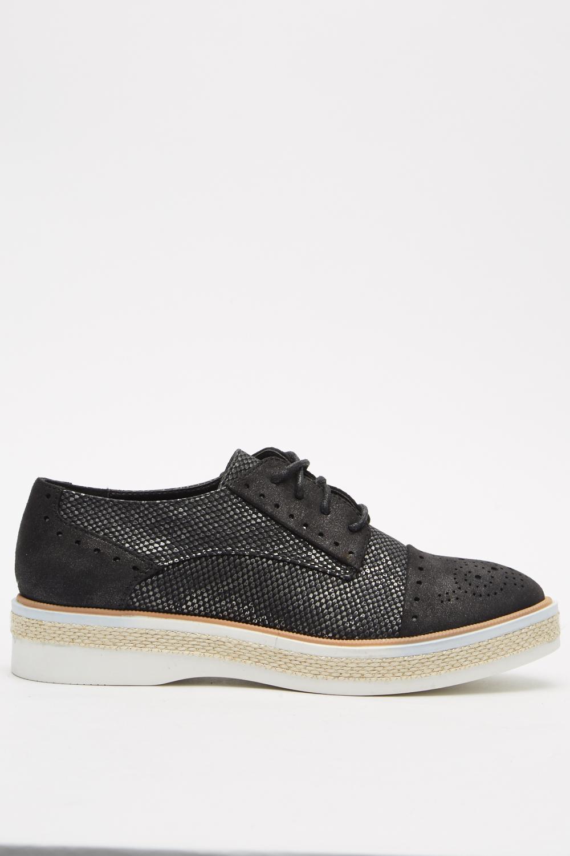 ce0b281120d0b Metallic Contrast Trainers - Black - Just £5