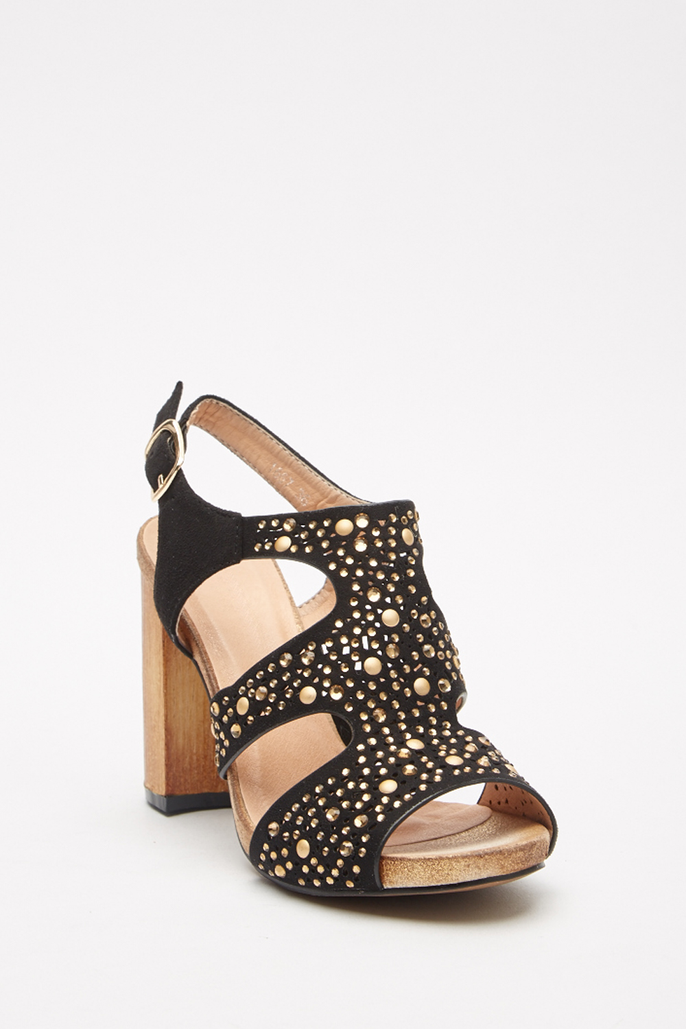 366b4c23aa9 Encrusted Block Heel Sandals - Just £5