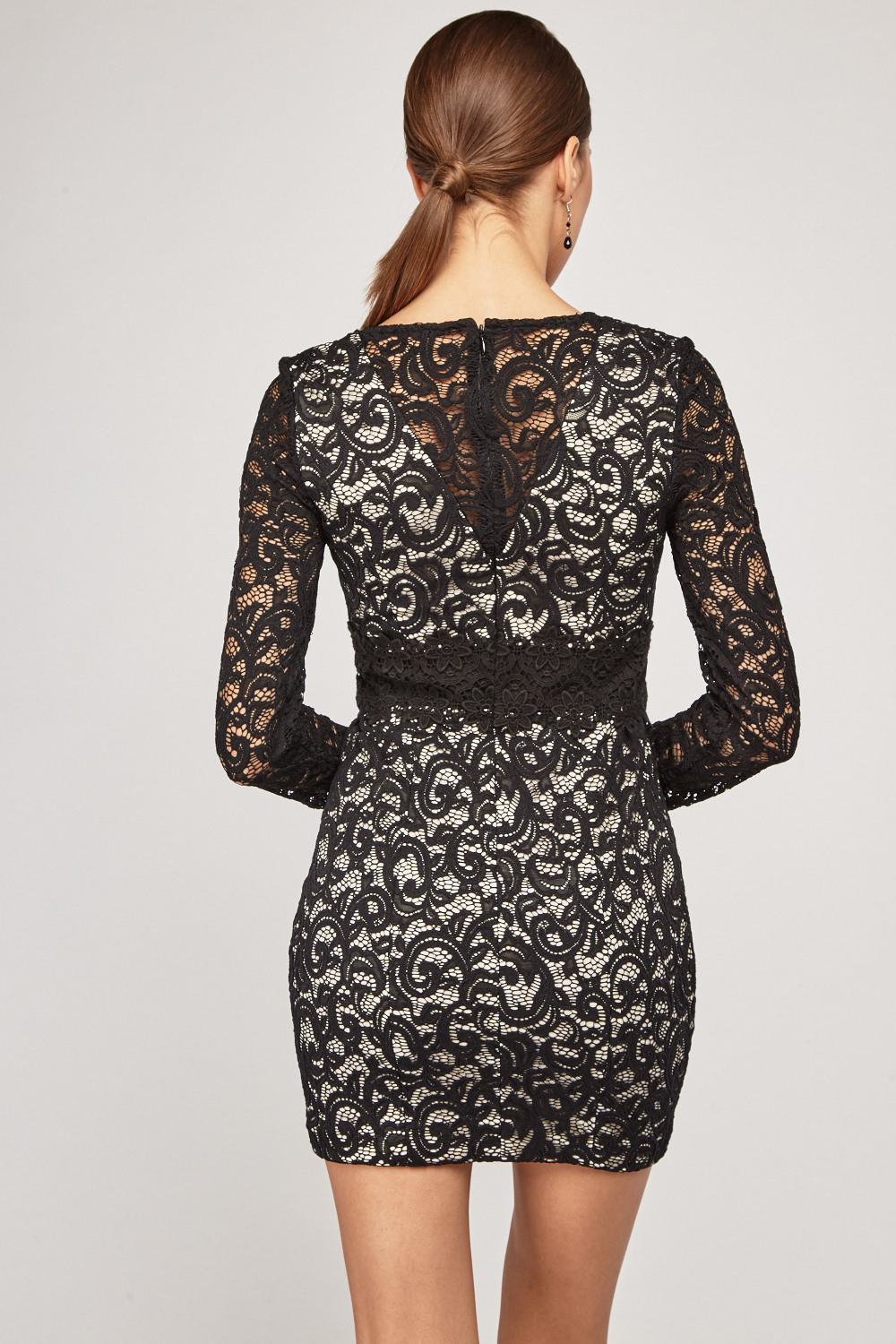 Fisher boys lace overlay bodycon dress order catalogs