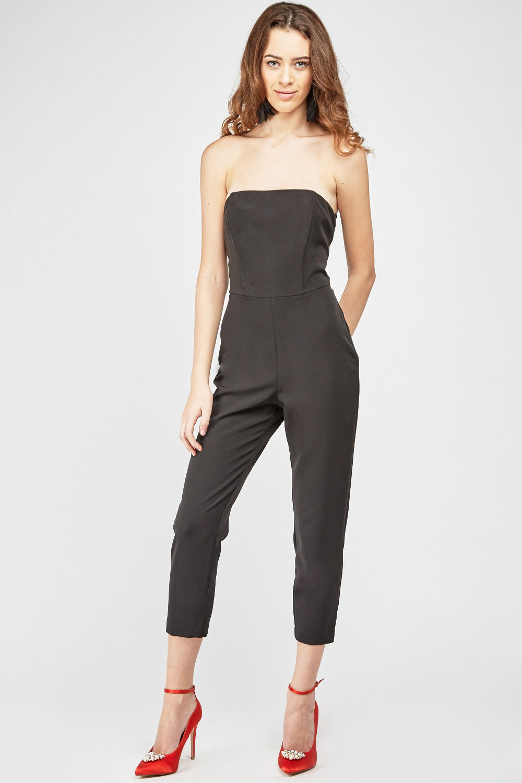 c049452f61b Bandeau Tapered Black Jumpsuit - Just £5