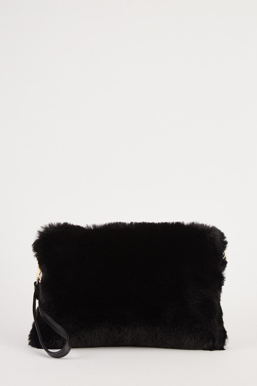 Faux Fur Clutch Bag - 5 Colours - Just £5 dfe604c4d58fa