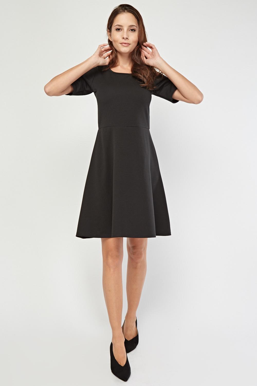 c3da05b3150f8 3/4 Sleeve Length Swing Dress - Black or Maroon - Just £5