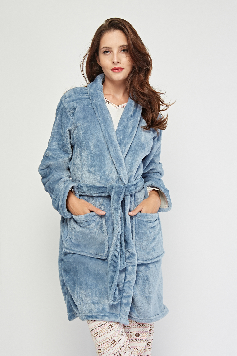 f16fd475deda9 Micro Fleeced Belted Dressing Gown - 6 Colours - Just £5