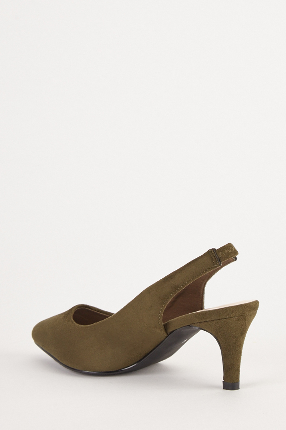 Court Slingback Kitten Heels Olive Just 163 5