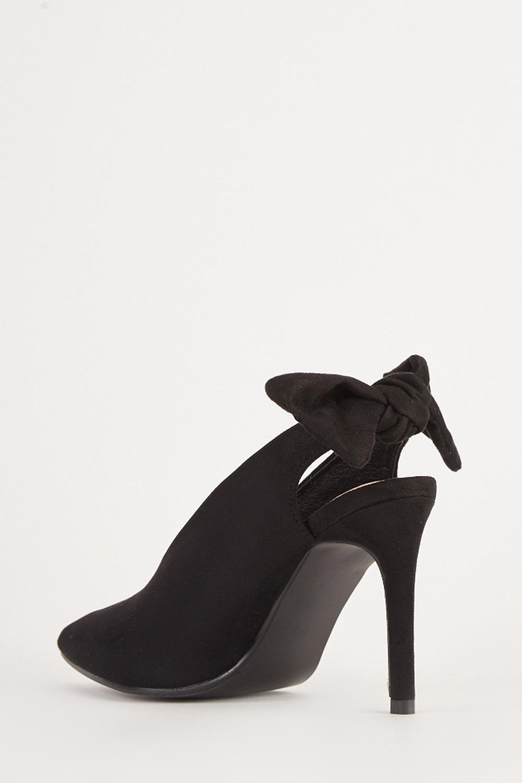 c464273df301 Suedette Slingback Heels - 4 Colours - Just £5