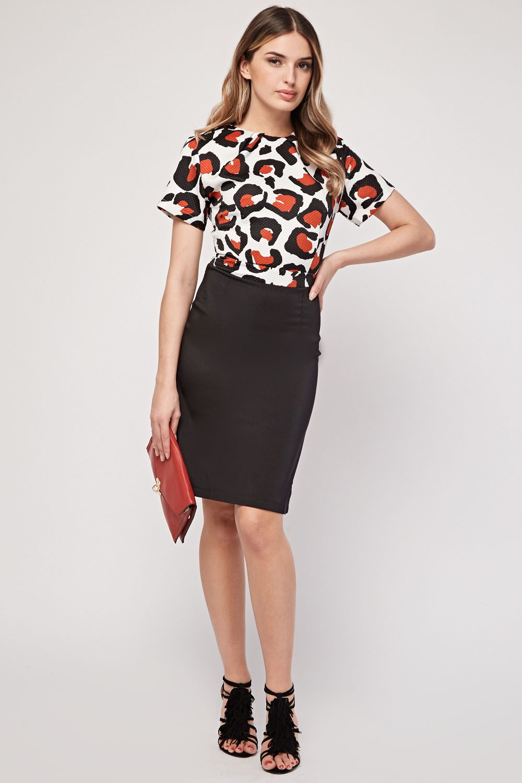 1324feadfcc Leopard Print Bodice Midi Dress - Just £5