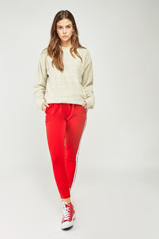 84bf6c0f Textured Funnel Neck Sweatshirt - Beige - Just £5