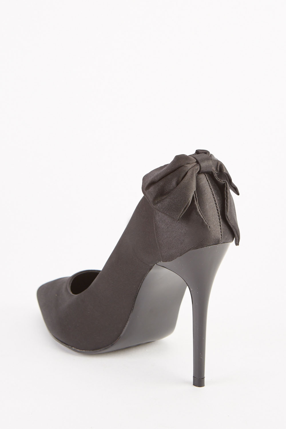 13e22d226af Sateen Bow Back Court Heels - 4 Colours - Just £5