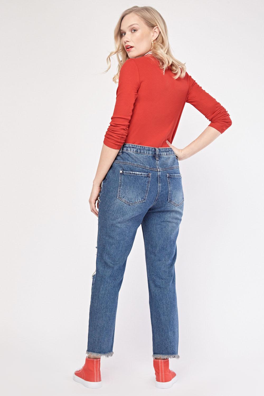 Denim Blue Boyfriend Jeans - Just $7