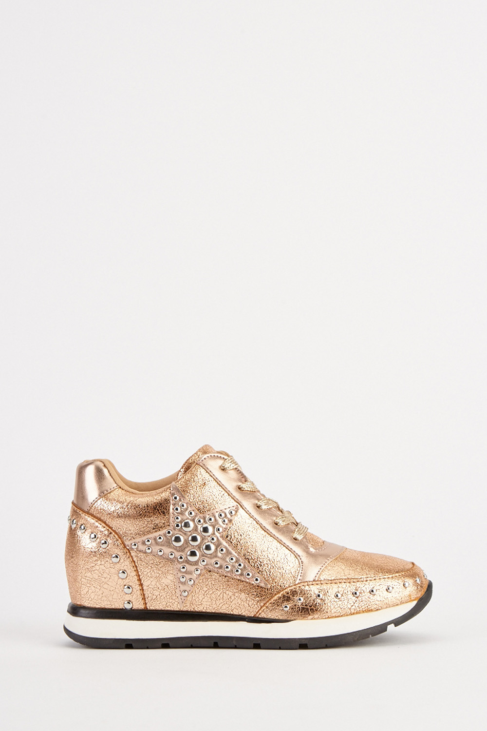 d508bd9e589e Metallic Lace Up Wedge Trainers - Just £5