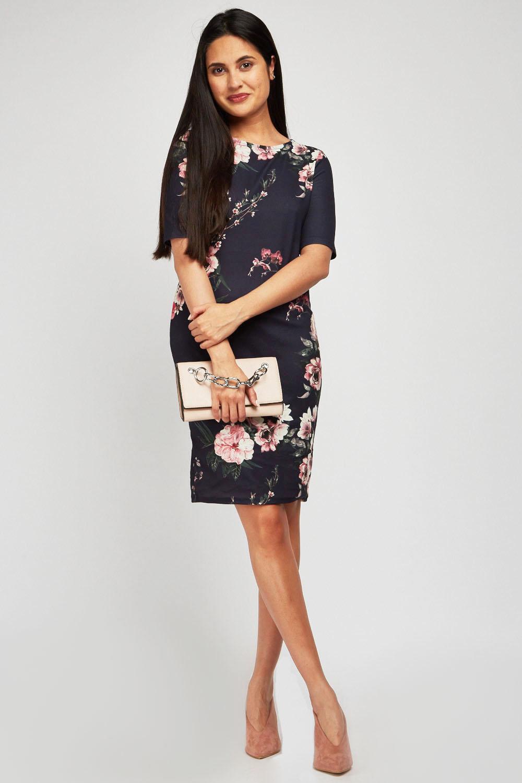 60b97b5c31 Floral Print Bodycon Dress Next | Saddha
