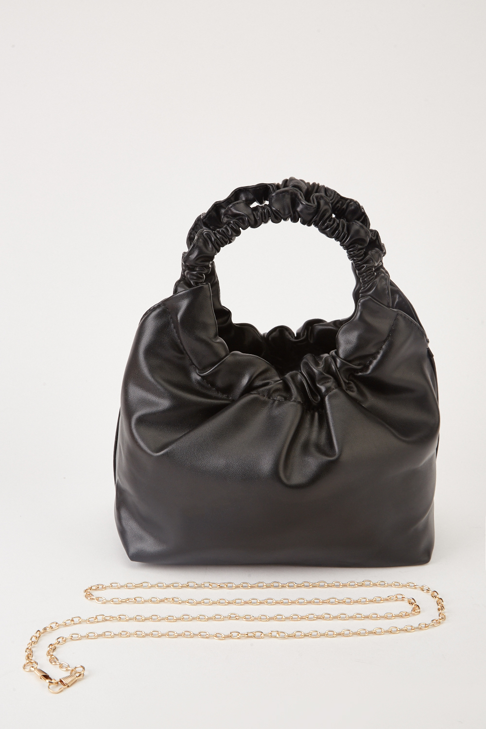 f843bb550f Ruched Faux Leather Hobo Bag - Black or Camel - Just £5