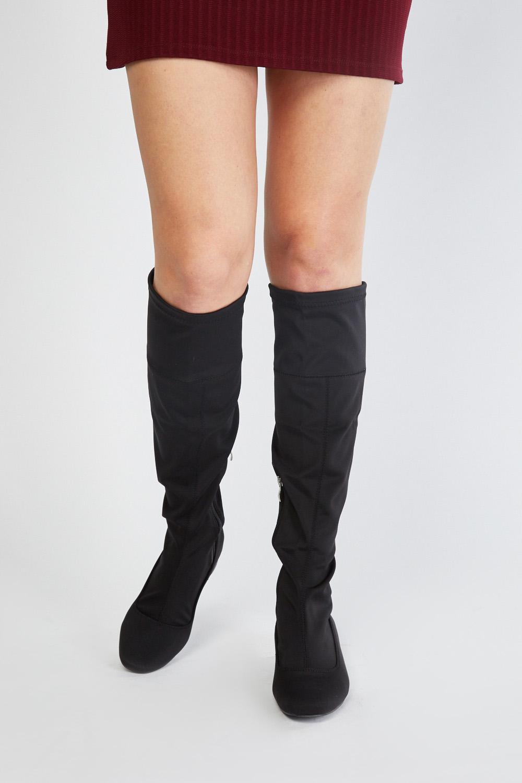 2523a6778bb Below Knee Scuba Overlay Boots - Black - Just £5