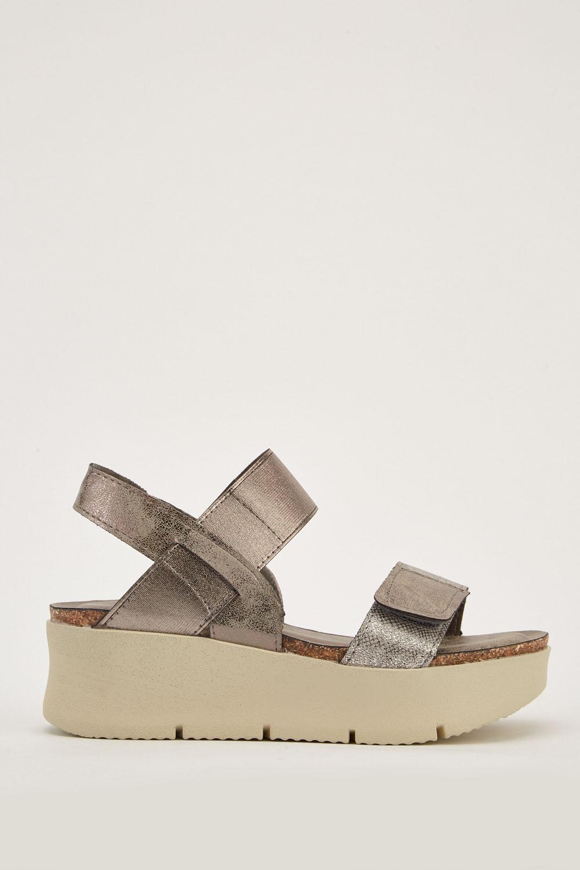 3146e888936 Chunky Heel Metallic Sandals - Just £5