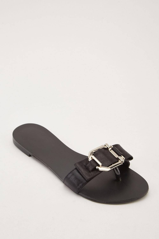 702f3426f Flip Flop Style Flat Sliders - Black - Just £5