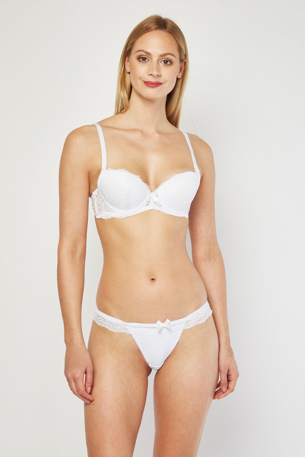 c98024069 Lace Layered Bra and Thong Set - 5 Colours - Just £5