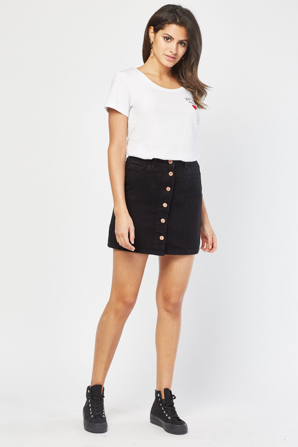 86674a3637cd Button Front Denim Skirt - Just £5