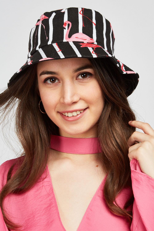 15caf1171266d Reversible Flamingo Bucket Hat - Black/Multi or Blue/Multi - Just £5
