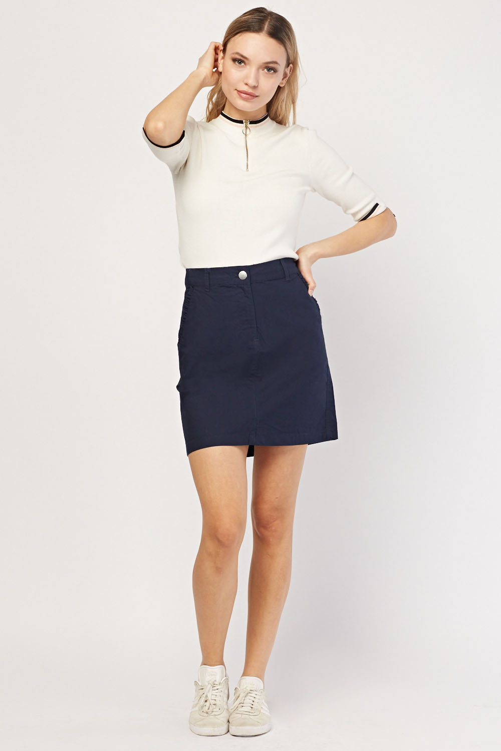 4b7159c46069 Ruffle Pocket Trim Mini Skirt - Just £5