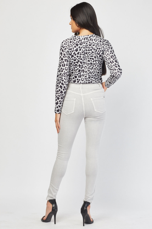 Super Skinny Light Grey Jeans Just 163 5