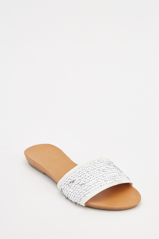 Sequin Flat Sandals - Just $6