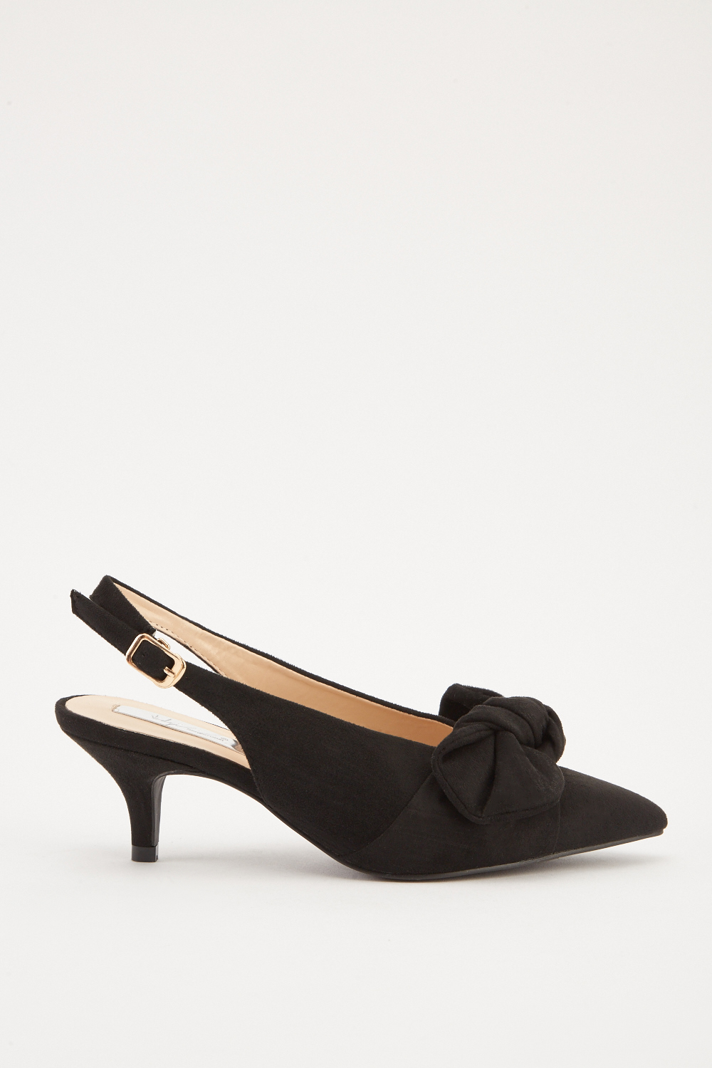 e840cc1064 Slingback Kitten Heel Courts - Black or Khaki - Just £5