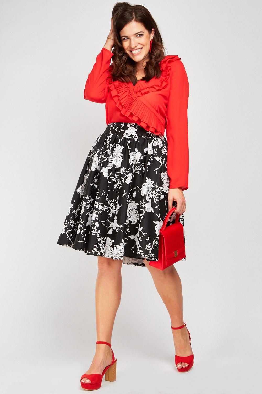 b5eaf2a3da Printed Midi Circle Skirt - Just £5