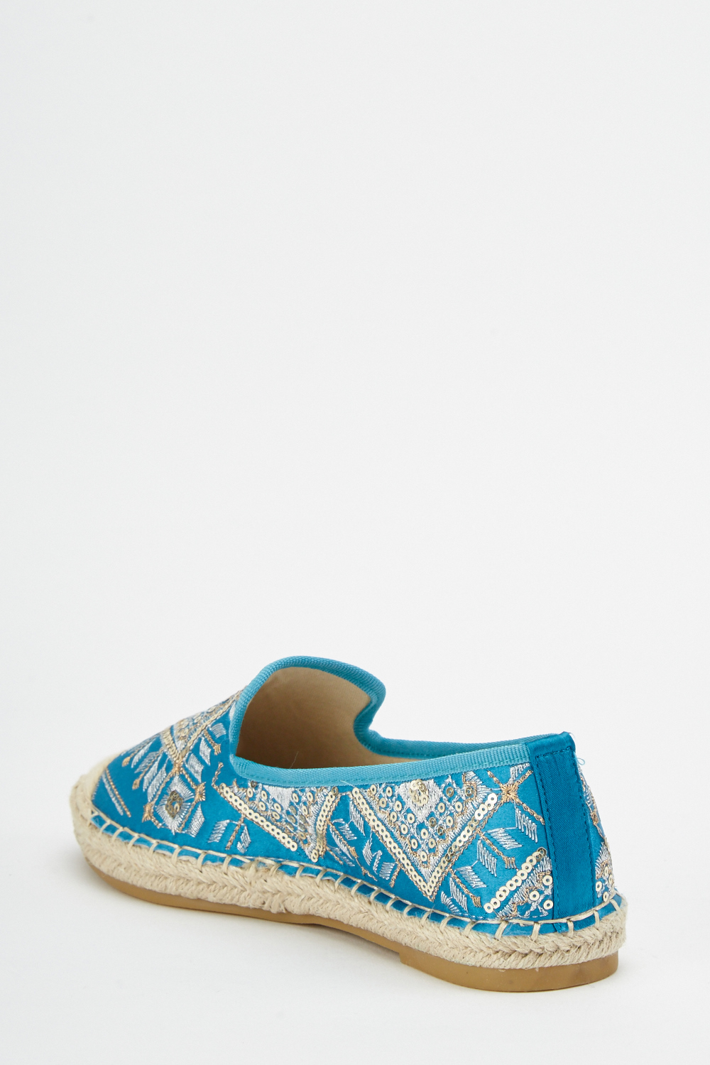 caa23231d Ethnic Embroidered Flat Espadrilles - 4 Colours - Just £5