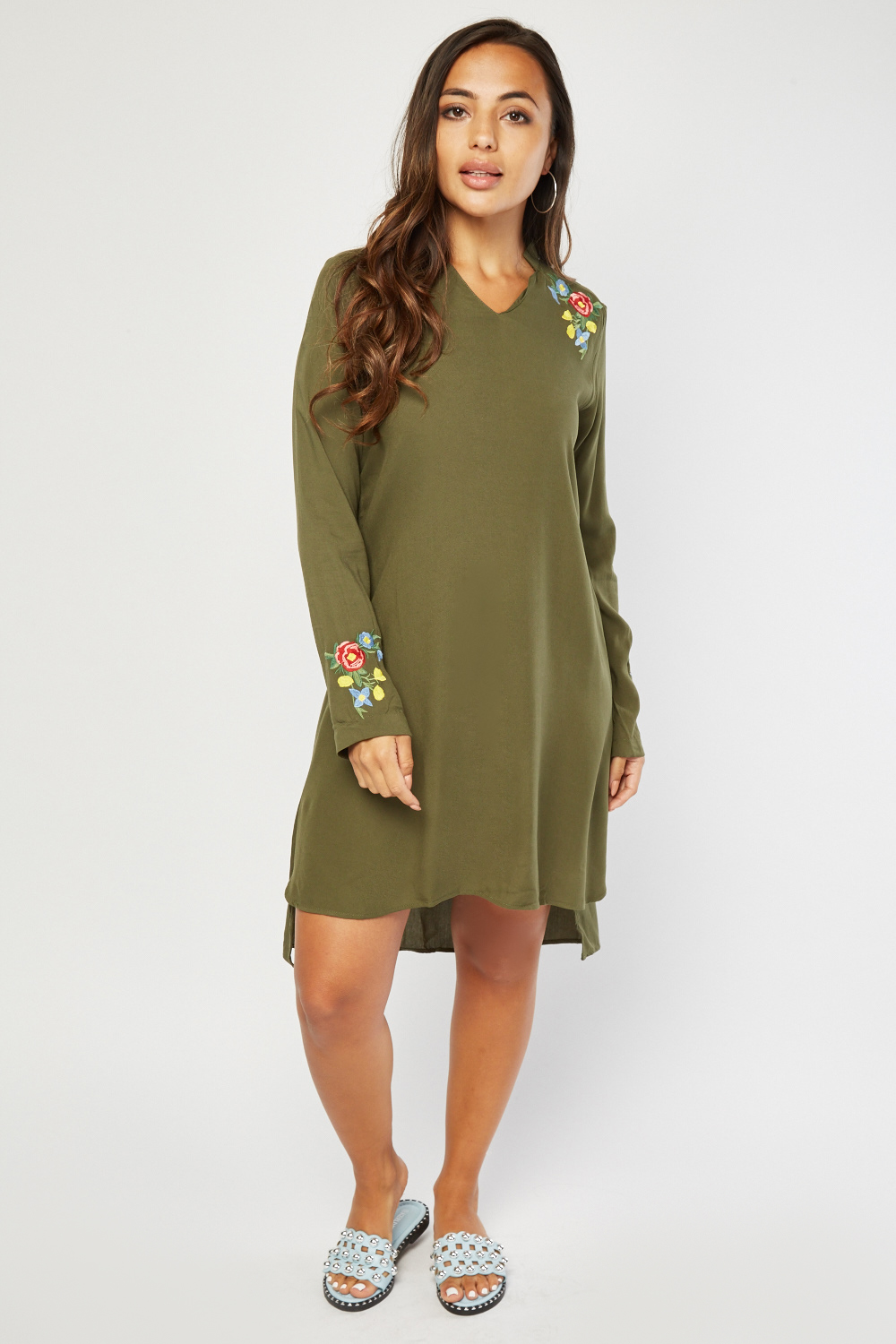 820f9df194d Flower Embroidered Tunic Dress - Just £5