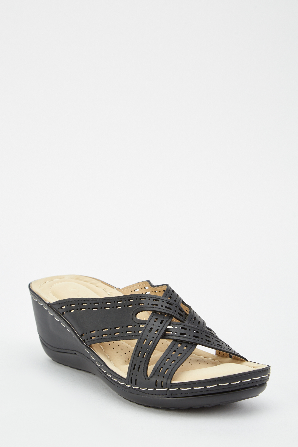 Cross Strap Wedge Sandals Just 163 5