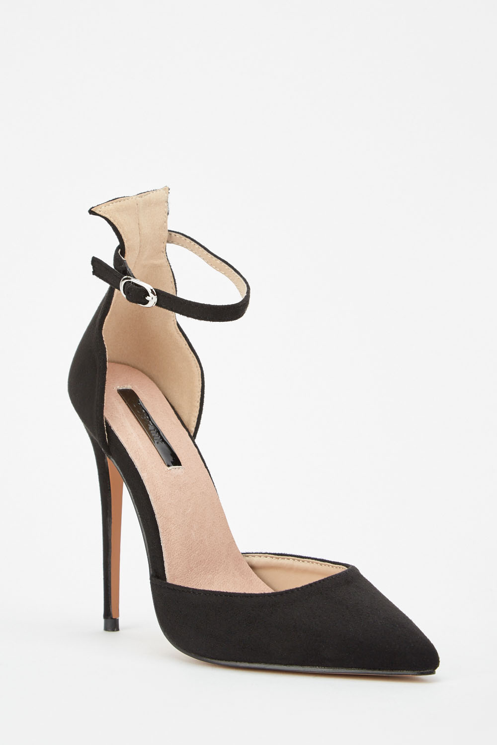 9f8a52917 Lost Ink Ankle Strap Stiletto Courts - Black - Just £5