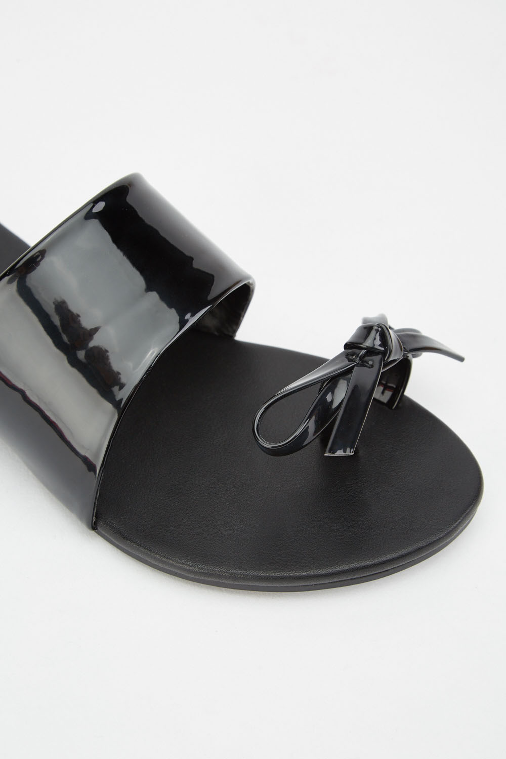 5db41c6f5 LOST INK Toe Post Bow Flat Sandal - Black - Just £5