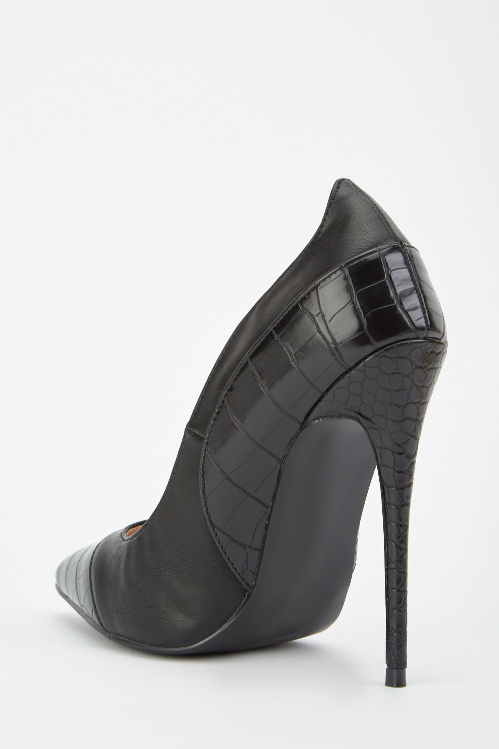 58c2ab06b LOST INK Charly Texture Mix High Heel Court Shoe - Black - Just £5