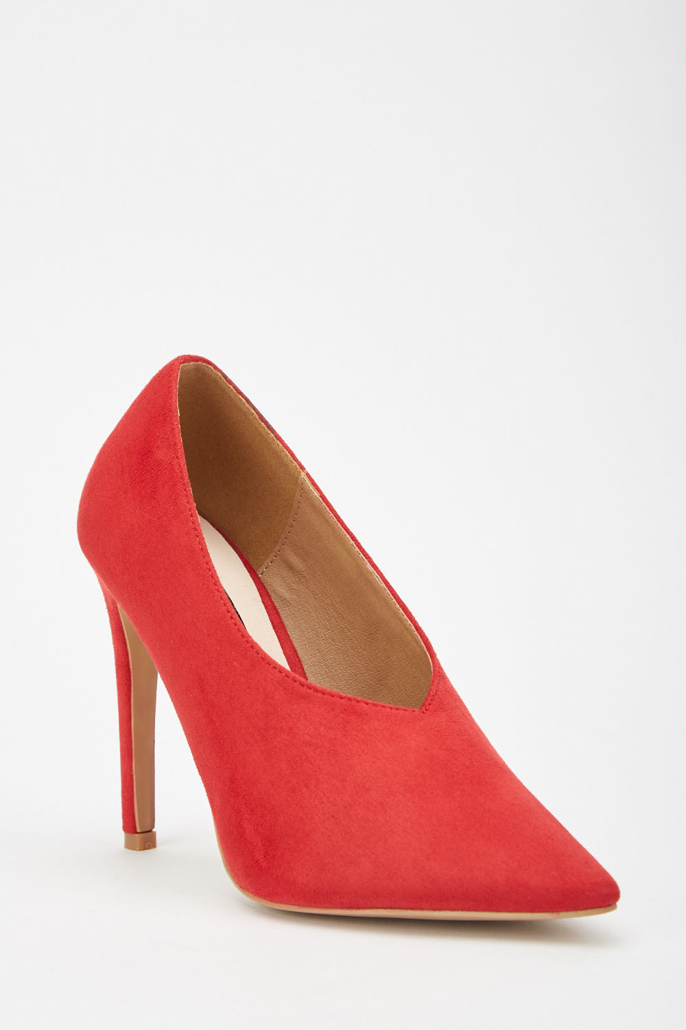 5be2d8b46ae1 LOST INK Tate High Vamp Basic Court Heels - Red - Just £5