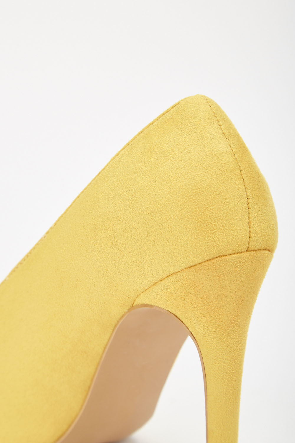 a9a5ed8fa59d LOST INK Tate High Vamp Basic Court Shoes - Yellow - Just £5