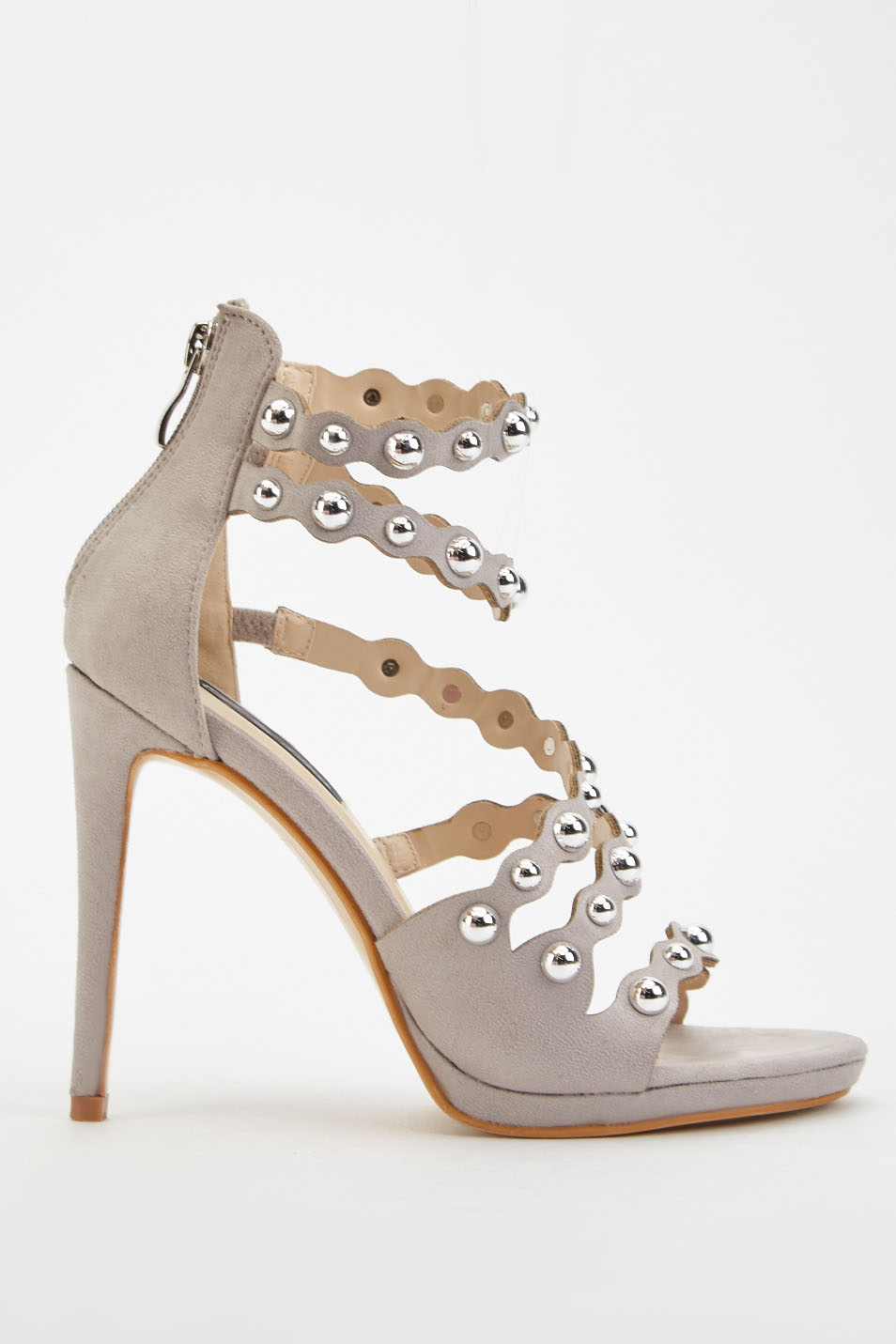 Studded Scallop Strap Sandals