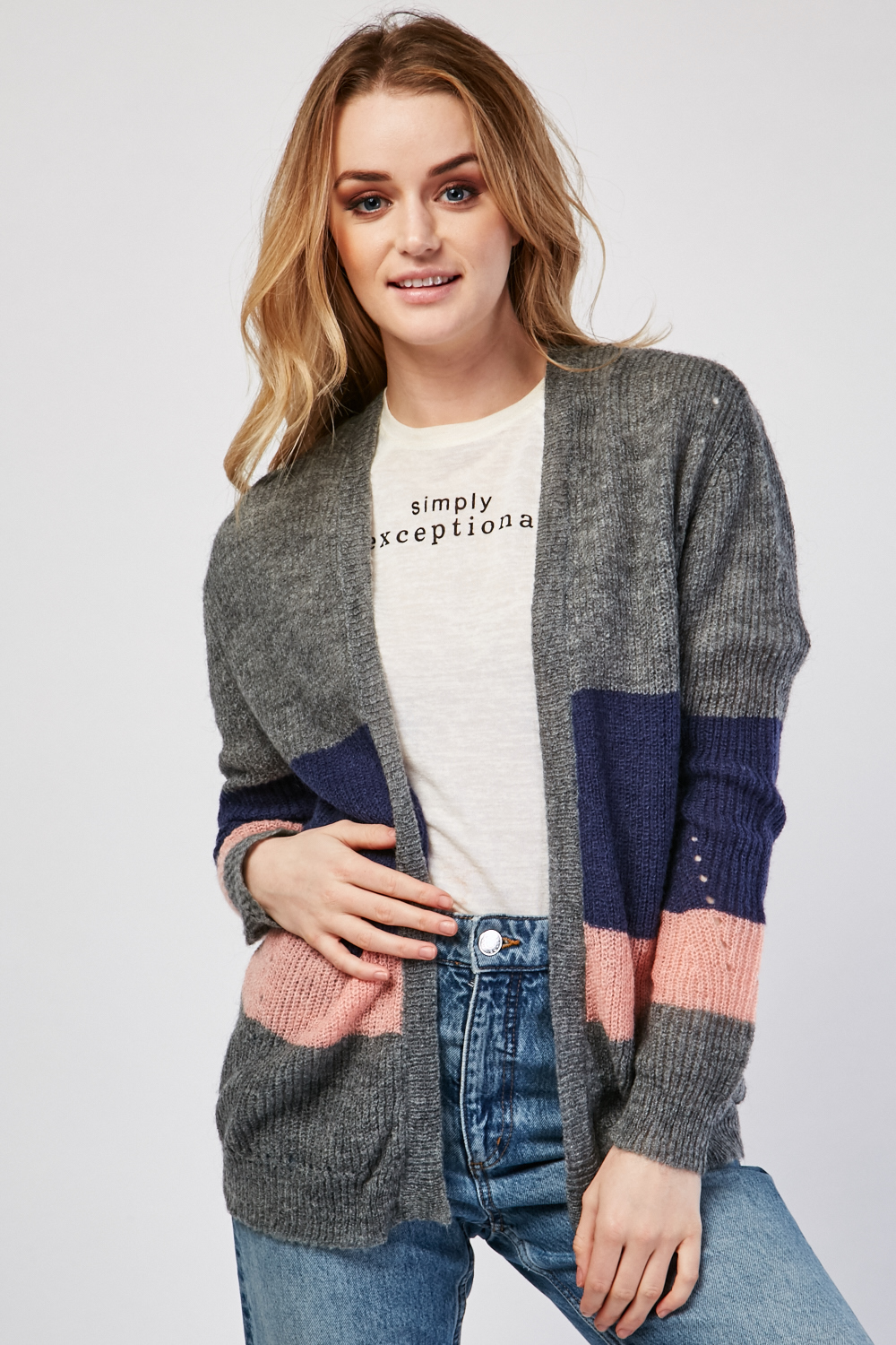 Cozy Taupe Brown Loose Knit Sweater - Wide Neckline - The