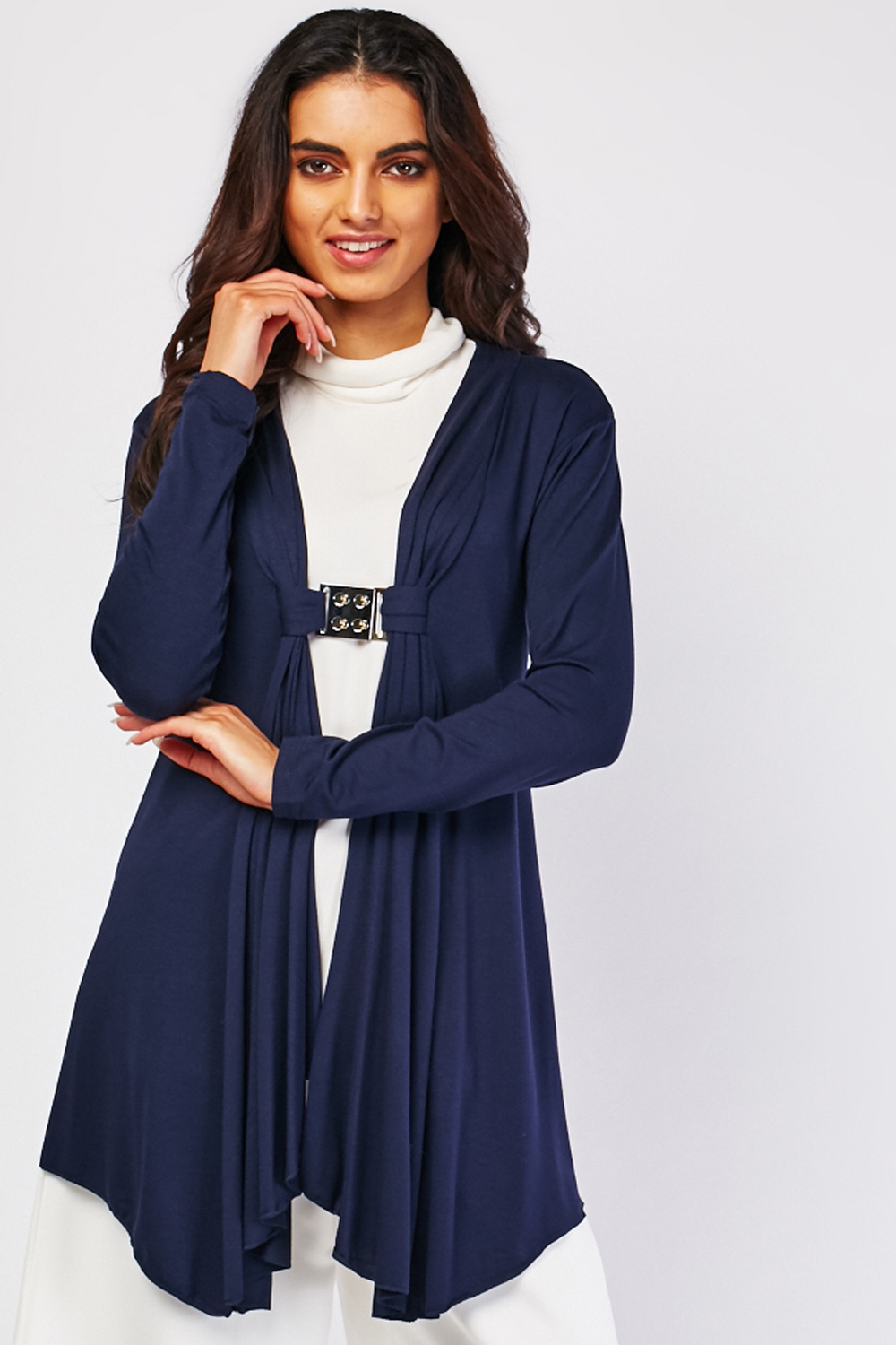 Detailed Front Waterfall Cardigan