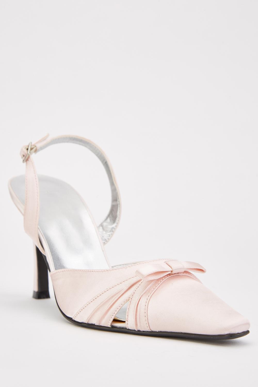 Bow Detail Slingback Heels