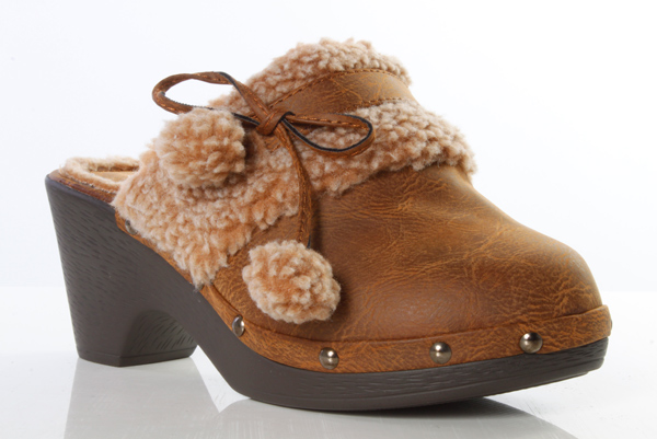 Faux Fur Lined Clogs