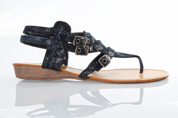 Triple Buckle Thong Sandals