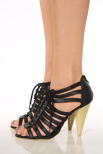 Laced Up Strappy Sandals