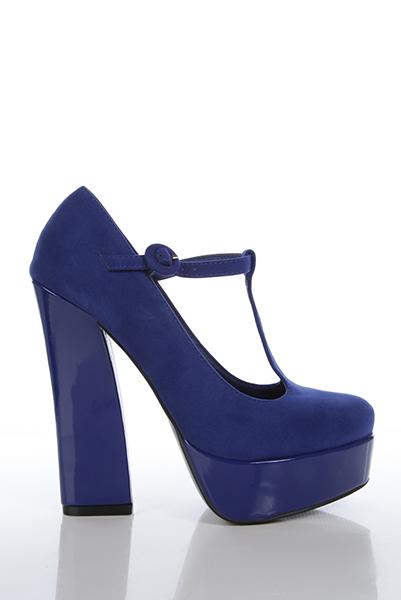 ca208691a8 Patent Heel & Platform T-Bar Velour Shoes - Just £5