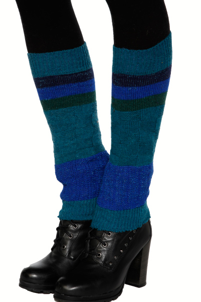 Lurex Thread Knit Leg Warmers
