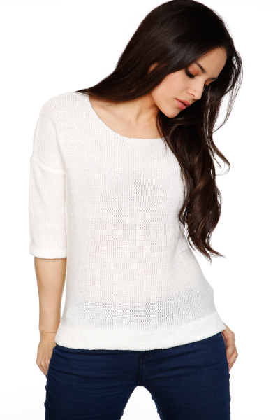 Cata Knit 3/4 Sleeves Pullover