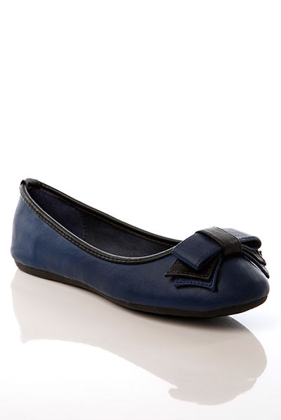 Two Tone Bow & Trim Flats